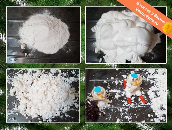 Искусственный снег своими руками из соды и пены для бритья 28