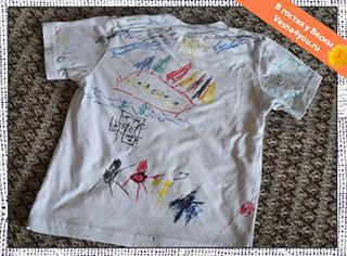 Рисование фломастерами на футболках